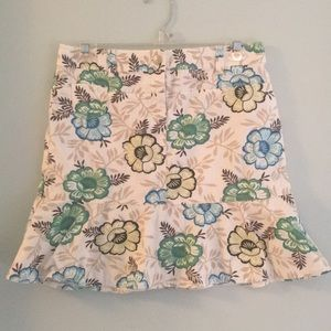 LOFT Twill Mini Skirt